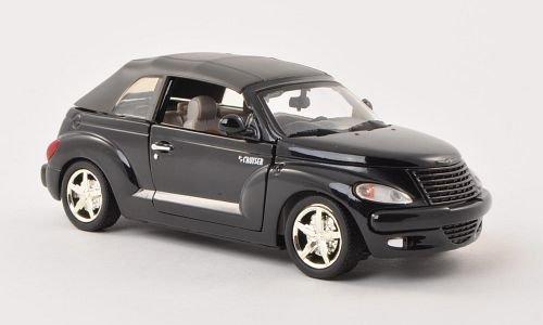 Bester der welt Chrysler PT Cruiser Cabrio, Schwarz, Automodell, Fertigmodell, Motormax 1:24