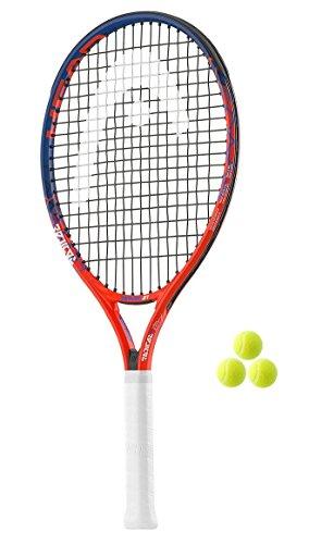 Head Radical Junior 19,21,23,25,26raqueta de tenis + 3Pelotas de tenis RRP £60(2018), tamaño 25 inches