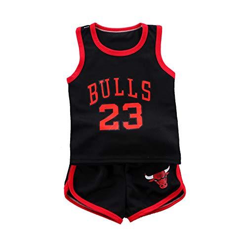 Kind Basketball Jersey, Lose Mesh Atmungsaktive Pullo Training Sweatshirt T-Shirt Unisex Casual Kind Erwachsene Jungen Sportswear Geschenk (90-160#) red-110#