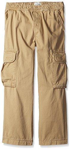 The Children's Place Big Boys' Husky Pull-On Cargo Pant, Flax, 10 Husky