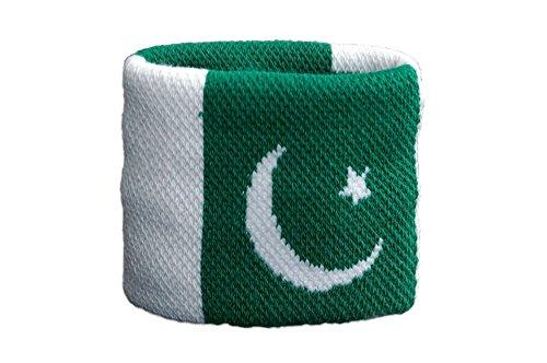 Flaggenfritze Schweißband Motiv Fahne/Flagge Pakistan + gratis Aufkleber