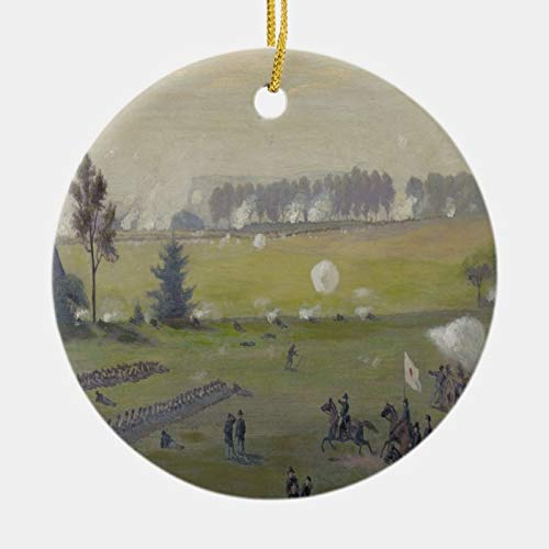 Odeletqweenry Christmas Ornament, Gettysburg Peach Orchard - Civil War Ceramic Ornament, Xmas Ornaments, 3 Inch Decorating Hanging Ornaments for Christmas Party Decor Xmas Gift