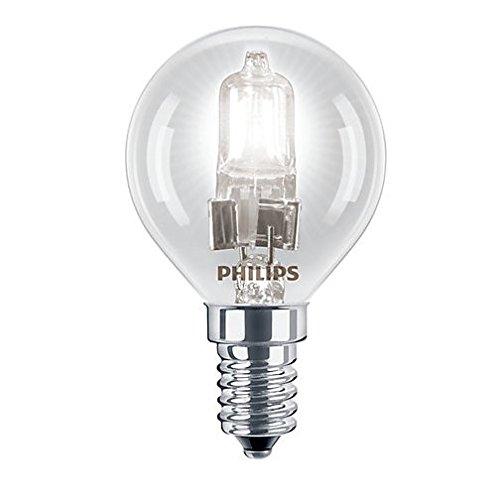 Philips Eco Halogen-Golfball-Lampe / Leuchtmittel, 28W, entspricht 35Watt,  kleine Edison-Schraube E14, rund, dimmbar, 5 Stk.
