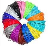JANBEX Pla Filament 1.75 mm | 20 Farben je 10m | für 3D Drucker oder Stift | 3D-Drucker Zubehör | 1,75 mm Fillament | Druck Fillamentum | Printer