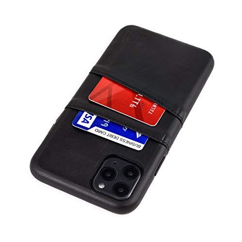 Dockem Exec M2 Funda Cartera para iPhone 11 Pro MAX (6.5): Funda Tarjetero Slim con Placa de Metal Integrada para Soporte Magnético: Serie M [Negro]
