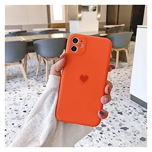 HHF teléfono celular Accesorios esmerilado lente protección silicona corazón teléfono caso para iphone 12 11 pro max mini x xr xs max 8 7 6 s plus se 2020 casos cubierta