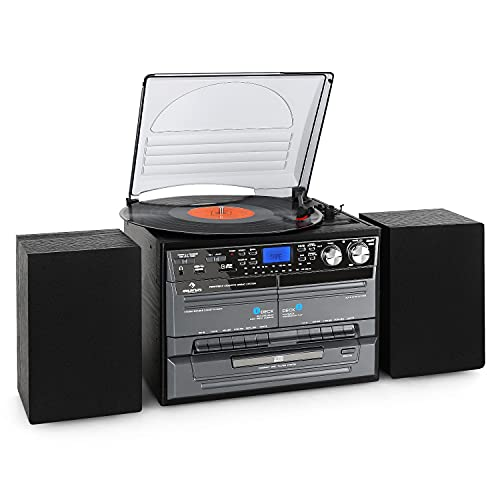 AUNA MG-TC-386WE Stereo Edition - Turntable CD Player USB SD Inputs...