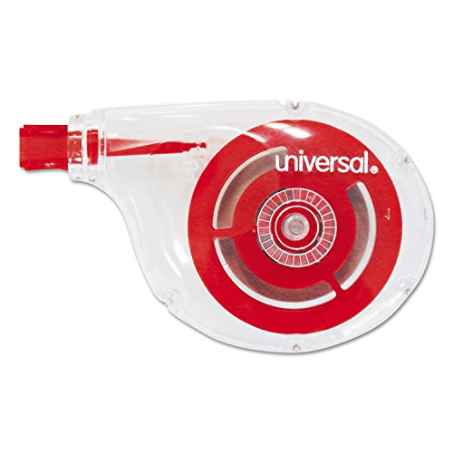 Universal, 75612, Side-Application Correction Tape, Non-Refillable, 1/5 inch x 393 inch, 10/Pack, Sold as 1 Pack