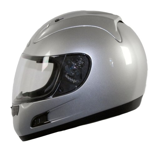 Vega Altura Full Face Helmet (Silver, X-Small)