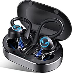 Bluetooth 5.1: Les écouteurs bluetooth sans fil sont équipés de puces Bluetooth 5.1, offre un appairage plus rapide et une connexion sans fil stable et efficace. Elle a une portée allant jusqu'à 10 mètres avec une connexion stable. Que vous soyez à l...
