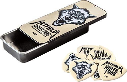 Dunlop-Box mit 6 Picks James Hetfields Weißer Reißzahn 1mm