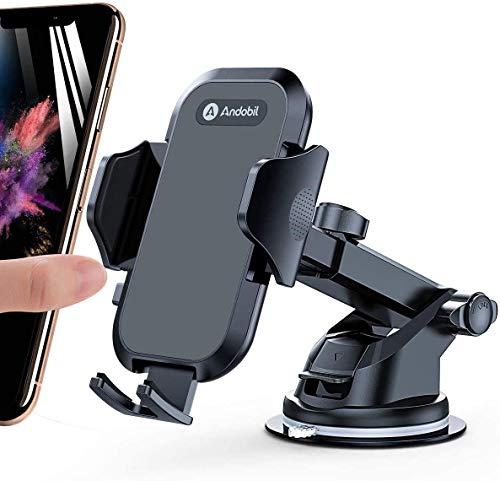 andobil Handyhalter fürs Auto Handyhalterung Lüftung & Saugnapf Halterung 3 in 1 Universal KFZ Handyhalterung Smartphone Halterung für iPhone 12/12 Pro/ 11/Samsung S20/ S10 Huawei Xiaomi LG usw