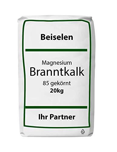 Magnesium-Branntkalk 85 gekörnt 20 kg Natur-/Gartenkalk Dünger