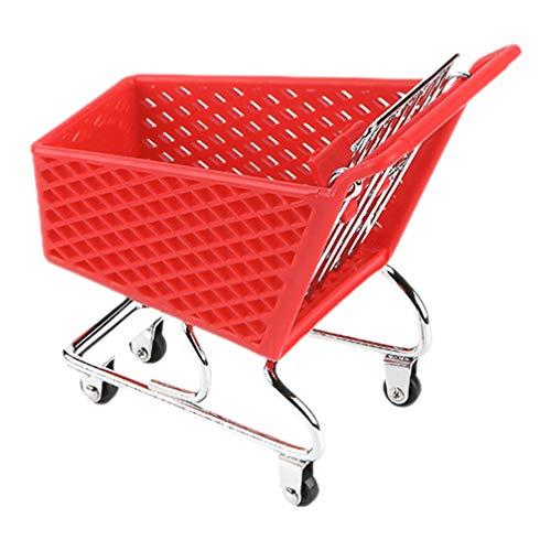 Hemoton Mini Carrito de Supermercado Carrito de Utilidad de Compras Carrito de Simulación Modelo de Carrito de Supermercado Juguete de Almacenamiento para Niños Juego de Imaginación para