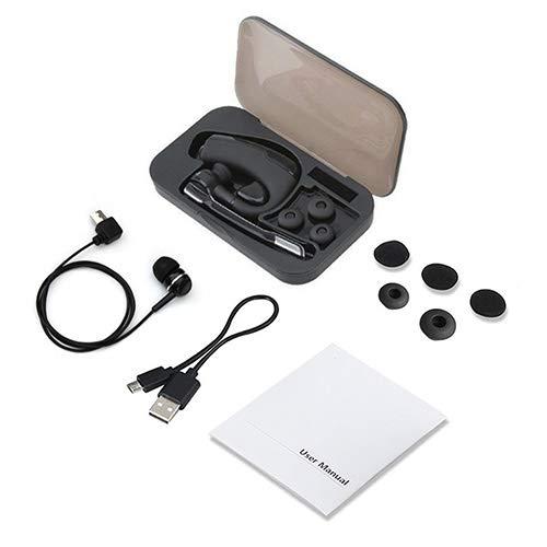 ZJDY nieuwe Bluetooth headset K6 draadloze Bluetooth hoofdtelefoon oortjes stereo HD Mic handsfree zakelijke headset voor smartphone-PC, In het oor, Met opbergdoos.