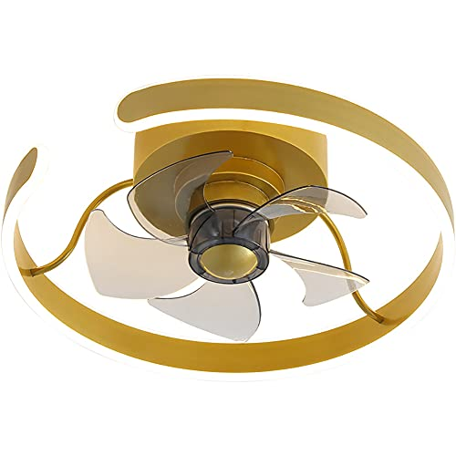 Ventilador De Techo Con Luz, LED RGB 26W, Simplicidad Moderna, Diseño Exclusivo, Mando Distancia, 3 Velocidades, Velocidad Del Viento Ajustable, Acrílico, Plafón De Techo, Motor De Cobre, Duradero