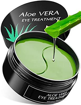 Aloe Vera Eye Treatment Mask (30 Pairs) Reduces Puffiness, Wrinkles, Puffy and Bags Under Eyes, Lightens Dark Circles, Undereye Patches Moisturizes and Anti Aging Skin, Hydrogel Pads with Collagen by My Alle Care