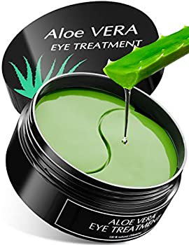 Aloe Vera Eye Treatment Mask  30 Pairs  Reduces Puffiness Wrinkles Puffy and Bags Under Eyes Lightens Dark Circles Undereye Patches Moisturizes and Anti Aging Skin Hydrogel Pads with Collagen