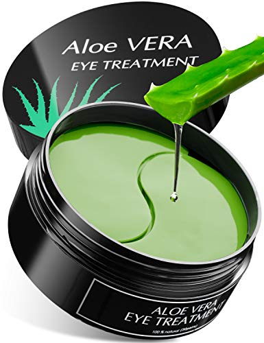 415eInYPoVL - Aloe Vera Eye Treatment Mask (30 Pairs) Reduces Puffiness, Wrinkles, Puffy and Bags Under Eyes, Lightens Dark Circles, Undereye Patches Moisturizes and Anti Aging Skin, Hydrogel Pads with Collagen