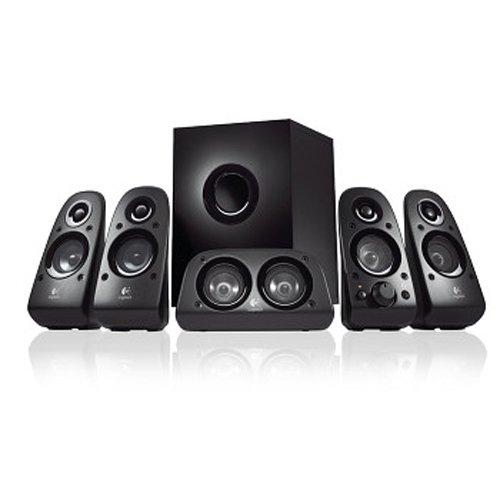 Logitech Z506 5.1 Sound System, Lautsprecher mit 150 Watt Surround Sound, 3,5 mm Klinke und Cinch Eingang, Einfache Bedienelemente, EU Stecker, PC/TV/Tablet/Handy/Spielkonsolen - schwarz