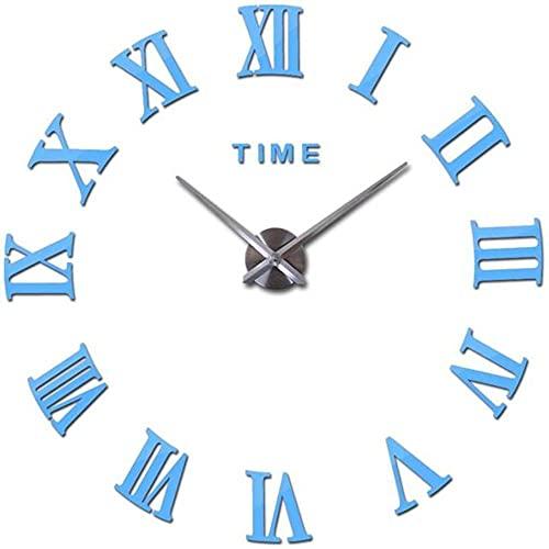 Reloj de Pared DIY Pegatinas de Espejo Acrílico Relojes de Naturaleza Muerta,Sala de Estar Decoración del Hogar Reloj de Cuarzo Moderno