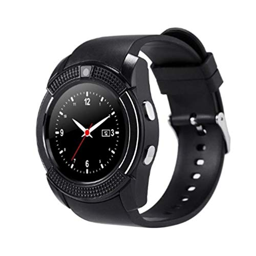 V8 Smart Wireless Watch Smartwatch Touch Screen Orologio da Polso con Fotocamera Slot per Scheda SIM Impermeabile Smart Watch (Nero)