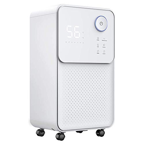 Best Price HWZQHJY Super Quiet dehumidifier with Child Lock, 2L Water Tank with Drain Hose, Humidity...