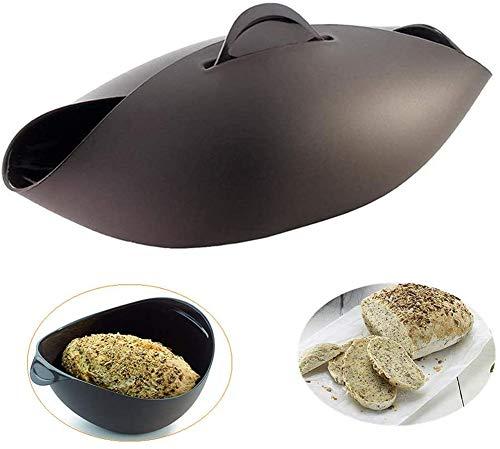 Silikon-Brotmacher, Antihaft-Mikrowellen-Gemüse-Dampfer, Brotschüssel, Backform für hausgemachtes Brot, Hackbraten, Quiche, Fisch und Gemüse