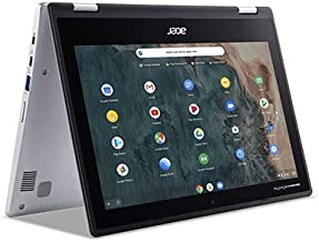 Acer 11.6inch IPS 2-in-1 Convertible Touchscreen Chromebook, Intel Celeron N4000 Processor Up to 2.60GHz, 4GB RAM, 64GB SS...