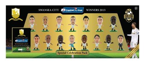 SoccerStarz - Swansea City 15PC 2013 League Cup Winners Celebration Team Pack / Figures