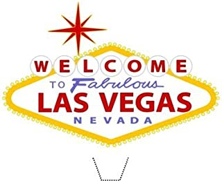 Novelty Welcome to the fabulous Las Vegas sign 12 Edible Stand up wafer paper cake toppers (5 - 10 BUSINESS DAYS DELIVERY FROM UK)