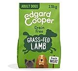 Edgard & Cooper pienso para Perros Adultos sin Cereales, Natural con Cordero Fresco, 2.5kg...