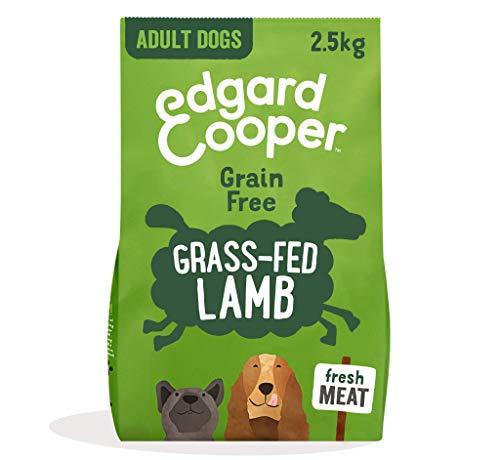 Edgard & Cooper Pienso Perros Adultos Comida Seca Natural Sin Cereales Hipoalergenico 2.5kg Cordero Fresco, Fácil de digerir, Alimentación Sana Sabrosa y equilibrada, Proteína