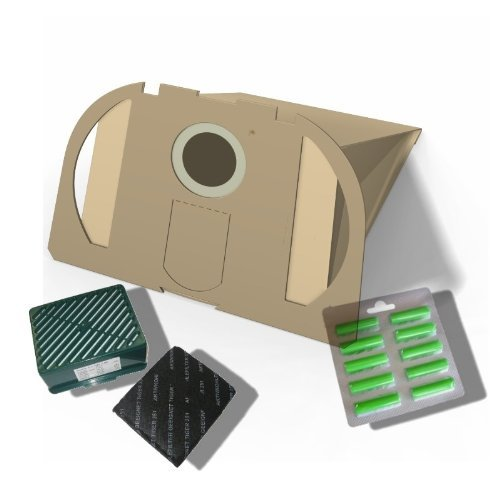 10 Staubsaugerbeutel + Aktivfiltersystem H12 +10 Duft geeignet für Vorwerk Tiger 250 251 252 Staubbeutel-Profi®
