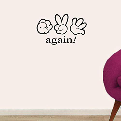 Ratet mal, Fingerspiel Wandaufkleber Stein Papier Schere Wandtattoo für Kinderzimmer Schlafzimmer Wohnkultur 24.7X40Cm