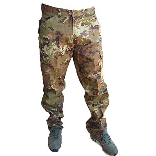Hunter Pantalone Pantaloni Esercito Italiano vegetato ordinanza Cotone Sfoderato (50)