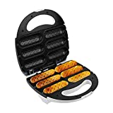Crispy Corn Hotdog Waffle Maker Francés Muffin Hot Dog Dog Lolly Stick Machine Breakfast Pan Parrilla para Hornear WTZ012