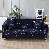 WXQY Funda de sofá elástica para salón, Funda de sofá elástica, Funda de sofá Horizontal, Funda de sillón de Esquina en Forma de L, Funda de sofá A10 de 3 plazas