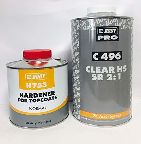 Acryl System Barniz acrílico 2k Auto Clear HS 496 HB Body 1l Laca+0,5l Endurecedor