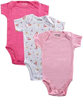Luvable Friends 3 Pack Rib Knit Baby Bodysuits - - 9-12 Months