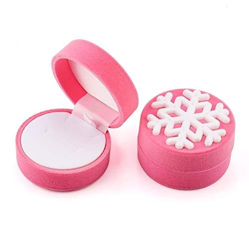 LOOEST 1 Pieza de joyería envase de la Caja de la Boda for la Pulsera Pendientes del Collar de la Caja del Anillo de Pantalla Caja de Regalo Holder Gift (Color : Snowflake Pink)