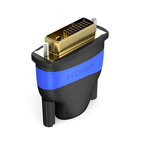 KabelDirekt - HDMI DVI Adapter - (High Speed HDMI - DVI Adapter, Full HD 1080p) - TOP Series
