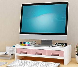 Hurricom Support pour écran avec 3 tiroirs de rangement – Organisateurs de bureau, support ordinateur portable, PC, monite...