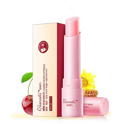 Xiton 1 PC Natürlich feuchtigkeitsspendend Lippenbalsam Bienenwachs und Fruchtextrakte Lippenstift Anti-trocken Aufhellen Lippenbalsam langlebiger Lippenpflege (Kirsche 012 Unzen)