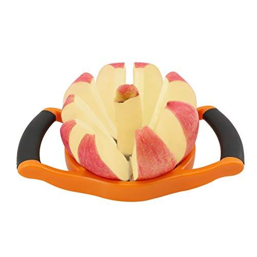 YYP Cortador de Manzanas, Acero Inoxidable Sharp 8-Tipo Blades Cortador de Manzana Grande, Mango de Plástico Ergonómico Antideslizante Fácil Grips, Fácil Limpio - Naranja
