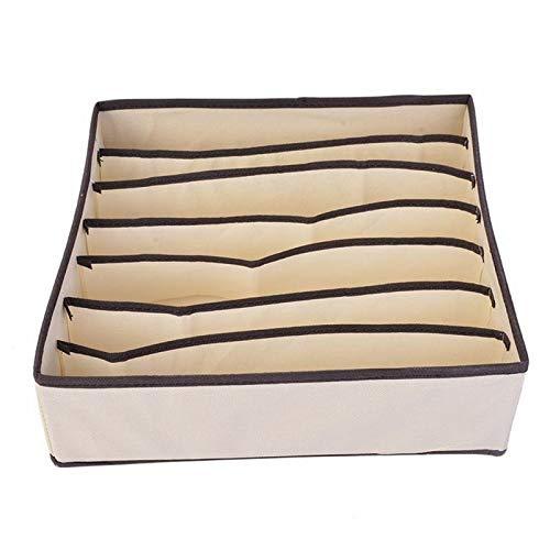 Wardrobe Storage Organiser 2pcs Socks Drawer Organiser Bedroom Wardrobe Space Saving Large Capacity Underwear Storage Box Bra Scarves (Color : A)