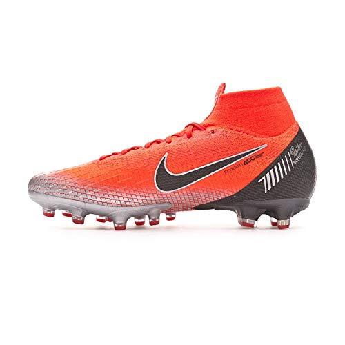 Nike Superfly 6 Elite CR7 AG Pro Hombre Botas de Futbol AJ3546 Soccer Cleats (UK 9.5 US 10.5 EU 44.5, Flash Crimson Black 600)