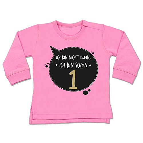 Shirtracer Geburtstag Baby - Ich Bin Nicht klein, ich Bin Schon 1-12 - 18 Monate - Pink - BZ31 - Baby Pullover