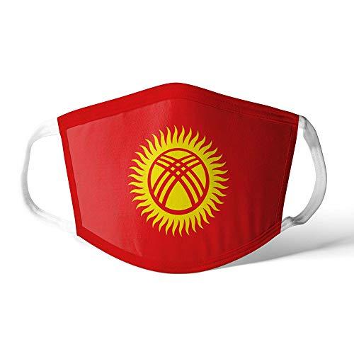M&schutz Maske Stoffmaske Groß Asien Flagge Kirgisistan Wiederverwendbar Waschbar Weiches Baumwollgefühl Polyester Fabrik