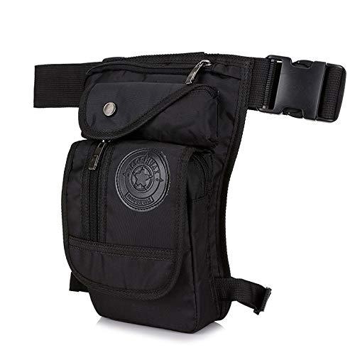 Pierna de lona / de nylon de los hombres de la gota del bolso for el bolso de los hombres de la cintura del paquete de Fanny de la correa del muslo de la cadera del vago viaje Motocicleta militar del
